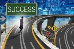 L'homme d'affaires dans le concept de réussite commerciale Image libre de droits