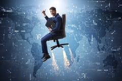 L'homme d'affaires dans le concept global de croissance Photos stock
