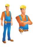 L'homme d'affaires de costume de Brown avec des bras a croisé le buste Images stock
