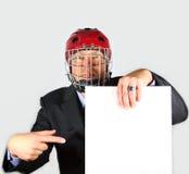 L'homme d'affaires est fâché au sujet du contrat photographie stock