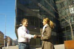 L'homme d'affaires et la femme Photos libres de droits