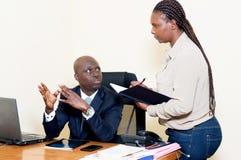 L'homme d'affaires et son secrétaire Image libre de droits
