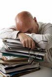 l'homme d'affaires a fatigué Photographie stock libre de droits