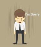 L'homme d'affaires font des excuses illustration de vecteur