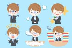 L'homme d'affaires font l'émotion différente illustration libre de droits