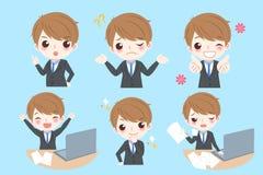 L'homme d'affaires font l'émotion différente illustration stock