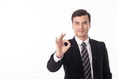L'homme d'affaires font le signe correct avec la main Image libre de droits