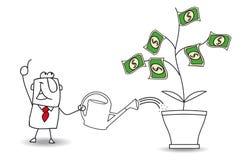 L'homme d'affaires gagnent l'argent illustration stock