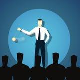 L'homme d'affaires hypnotise des personnes illustration libre de droits