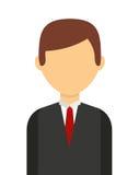 l'homme d'affaires a isolé la conception d'icône photo stock