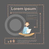 L'homme d'affaires a lu l'étudiant Study Abstract Background de document Illustration Libre de Droits