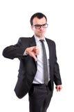 L'homme d'affaires manie maladroitement vers le bas Photos stock