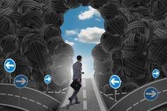L'homme d'affaires marchant vers son concept de but d'ambition Photos libres de droits