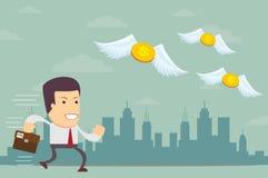 L'homme d'affaires n'a aucun argent Images libres de droits