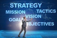 L'homme d'affaires ne peut pas comprendre la stratégie corporate images stock