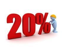 L'homme d'affaires offre un 20percentage illustration de vecteur