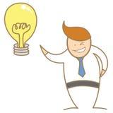 L'homme d'affaires ont la bonne idée Image stock