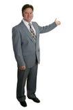 L'homme d'affaires ou l'agent immobilier terminent 1 Images stock