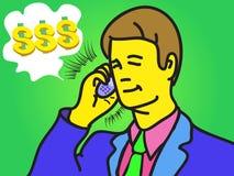 L'homme d'affaires parlent du téléphone Image stock