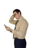 L'homme d'affaires PDA pensent Photo libre de droits
