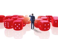 L'homme d'affaires pensant aux chances de réussite commerciale Image stock