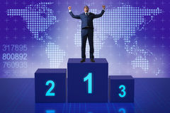 L'homme d'affaires prenant la première place en concurrence Photographie stock libre de droits