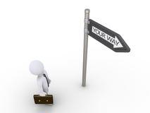 L'homme d'affaires recherche la manière Image libre de droits