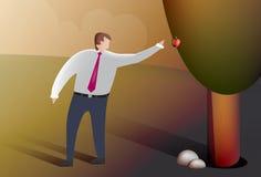 L'homme d'affaires sélectionne le fruit Image libre de droits
