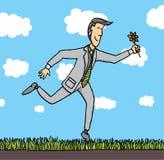 Homme d'affaires appréciant la nature illustration libre de droits