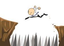 L'homme d'affaires sautent Photo libre de droits