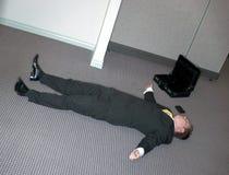 L'homme d'affaires se couche Photo libre de droits