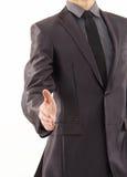 L'homme d'affaires se prépare à la prise de contact Photo libre de droits