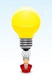L'homme d'affaires a une idée lumineuse Image stock