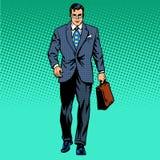 L'homme d'affaires va en avant illustration de vecteur