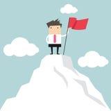 L'homme d'affaires vont au dessus de la montagne Photographie stock libre de droits