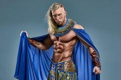 L'homme dans l'image du pharaon égyptien antique Images stock