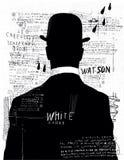 L'homme dans le chapeau Images libres de droits