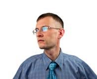 L'homme dans les lunettes Photo stock