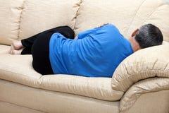 L'homme de dormeur Photos libres de droits