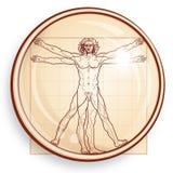 L'homme de Vitruvian (sous le microscope) illustration de vecteur