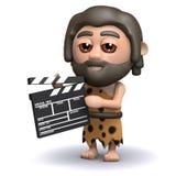 l'homme des cavernes 3d fait un film Photographie stock