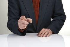 L'homme dirige son doigt à vous image libre de droits