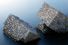 L'homme a effectué des roches Images libres de droits