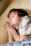 L'homme est tombé en sommeil Photos libres de droits