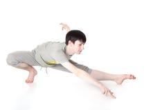 L'homme est un acrobate Photo stock