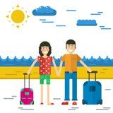 L'homme et la femme vont vacation Images stock