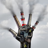 L'homme a fait la pollution Photo stock