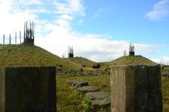 L'homme a fait les collines - régénération d'ancien site à ciel ouvert Photo stock
