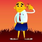 L'homme jaune montre qu'a vous sont des écrous font des gestes illustration stock