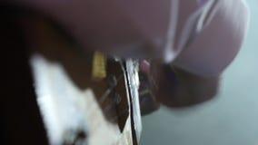 L'homme joue le plan rapproché traditionnel d'instrument de musique clips vidéos